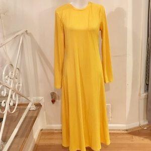 NWT Yellow Zara Stretch Maxi Dress Size XL